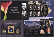 William & Kate 2011 Verlobung / Hochzeit 24 verschiedene Blocks / Kleinbogen **