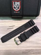 "Luminox ""Black Ops Series"" Watch Strap/Band 8400, 8800: IRB Black 22mm. New"