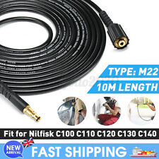 More details for 10m replacement high pressure washer hose m22 jet power for nilfisk c100-c140