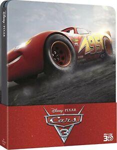 Cars 3 (Steelbook) (1 Blu-Ray 3D + 2 Blu-Ray)