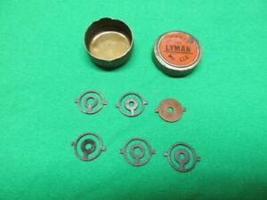 Vintage Lyman No. 17A front target sight inserts in Lyman Tin