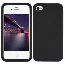 kwmobile Silikon Schutz Hülle für Apple Iphone 4 4S Schwarz Case Cover Handy