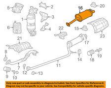 HONDA OEM 12-15 Civic 1.8L-L4-Muffler 18307TR6A01