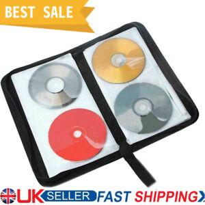 80 Disc CD VCD DVD Carry Bag Car Storage Holder Case Wallet Organizer UK STOCK~