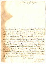 Lettera Autografo Sig. Pistocchi Accademia Arcadia Perugia a Marchese Sorbello