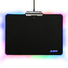 UK RGB Mouse Pad USB Aluminum Alloy Touch Control Glowing Smooth Gaming Mice Pad