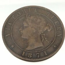 1871 Prince Edward Island Canada One 1 Cent Copper Penny PEI Coin Struck B579