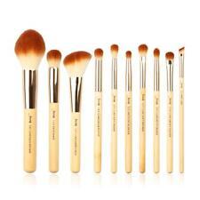 Bamboo Makeup Brushes Cosmetic Set Check Concealer Eyeshadow Liner Definer 10Pcs
