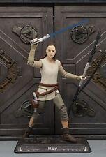 "Star Wars CUSTOM The Last Jedi, Rey attacks Luke! 3.75""fig. Ready NOW"