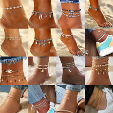 Ankle Bracelet Women Anklet Adjustable Chain Foot Beach Jewelry Gold Silver 2020