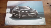 AUSTRALIAN CAR SALES ADVERTISNG BROCHURE, AUDI 2017 S3 SPORTBACK MODEL