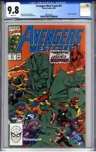AVENGERS WEST COAST 61 CGC 9.8 (1st Time Keepers, origin of Immortus) top census