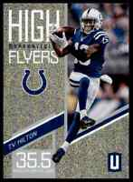 2019 PANINI UNPARALLELED HIGH FLYERS T.Y HILTON COLTS #HF-TY INSERT