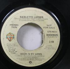 Pop Promo 45 Nicolette Larson - Back In My Arms / Back In My Arms On Warner Bros