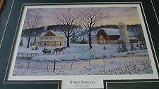 Framed & Matted-Winter Memories by Terry Doughty Print-  Nice Item