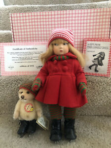 Haut Melton Winter Time Edith The Lonely doll & Steiff bear- Edition of 350-COI