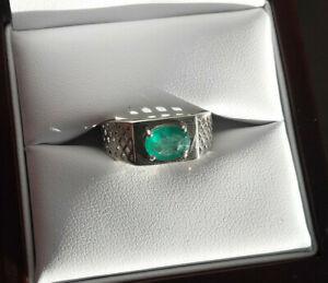 Kagem - Smaragd - Ring, Gr. 18, 925er Sterlingsilber