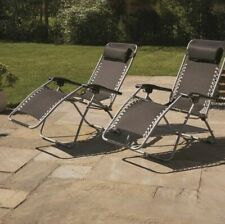 Premium Garden Reclining Sun Chair Lounger 2-Pack (Set Of 2 Loungers Included)