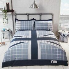 COOL BRITANNIA DOUBLE DUVET COVER SET UNION JACK FLAG - BLUE