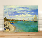 "Claude Monet Regatta St Adresse ~ FINE ART CANVAS PRINT 8x12"""