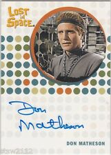 THE COMPLETE LOST IN SPACE DON MATHESON RETHRO THE SKY IS FALLING AUTOGRAPH