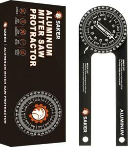 Saker Miter Saw Protractor|7-Inch Aluminum Protractor Angle Finder Featuring