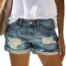 Women Denim Ripped Distressed Shorts Jeans Short Pants Trousers Hot Pant
