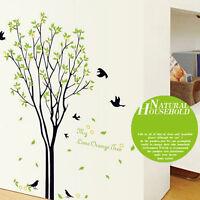 Green Tree Bird Removable Art Vinyl DIY Home Room Decor Wall Sticker Decal Mural
