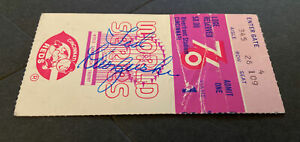 1976 WORLD SERIES GAME 1 TICKET STUB~TED KLUSZEWSKI AUTOGRAPHED~REDS NY YANKEES