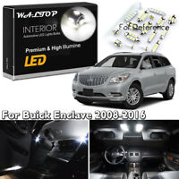 12x Interior package for Buick Enclave 2008-2016 Car LED Bulbs Light Ultra White