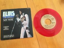 Elvis 45rpm record w/ Sleeve, My Way/America, Limited Edition Red Vinyl