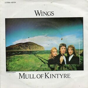 """Wings """"Mull of Kintyre"""" 45 t 17 cm 2 titres - Pathé Marconi EMI 1977"""
