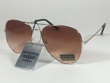 """Air Force """"TOP ACE"""" Aviator Sunglasses Copper Gold Wire Metal Brown Tea Gradient"""