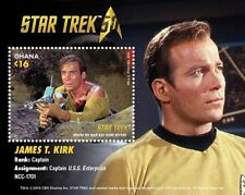 Star Trek - James T Kirk, Collectible Stamp Souvenir Sheet, Ghana