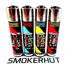 Clipper Lighter Set - Rare Weed Leaf 3D Letters Collection - Full Size x4 pcs