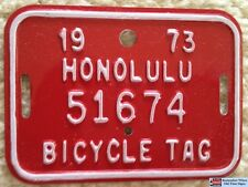 1964 1972 & 1973 Authentic Hawaii Bicycle License Plate Mint Set
