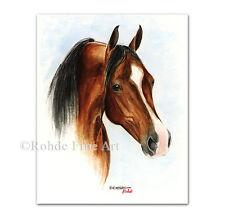 New listing Khemosabi - famous Arabian Horse Art equine stallion painting signed Rohde