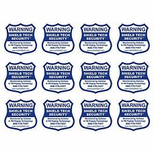 12 BACK ADHESIVE WINDOW or DOOR DECAL WARNING STICKER ALARM SECURITY SYSTEM PK B