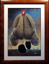 "Mackenzie Thorpe ""Her Work is Never Done"" Original Pastel damaged art"