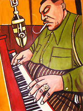 MEADE LUX LEWIS PAINTING jazz piano barrel house blues boogie woogie cd record