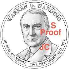 2014 S Proof Warren Harding Presidential Golden Dollar Coin by US Mint Proof Set
