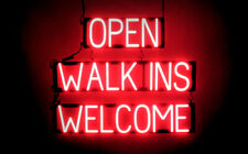 SpellBrite Ultra-Bright Open Walk Ins Welcome Sign (Neon look, Led performance)