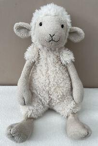 Jellycat Medium Woolly Sheep Lamb Soft Toy Comforter Cream Fluffy Rare Retired