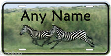 Zebras Running Aluminum Any Name Personalized Novelty Auto License Plate