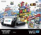Nintendo Wii U (Latest Model)- Super Mario 3D World Deluxe Set 32 GB Black Console