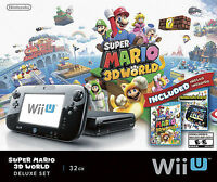 Nintendo Wii U Super Mario 3D World Deluxe Set 32GB Black Console