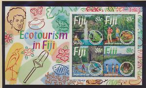 Fiji Stamp Scott #719, Mint Never Hinged, Eco-Tourism Souvenir Sheet