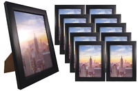 Frame Amo 5x7 Black Contemporary Wood Picture Photo Frames 1, 3, or 10 PACK