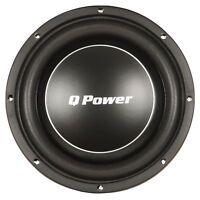 Q Power Deluxe 12 Inch Shallow Mount 1200 Watt Flat Car Subwoofer | QPF12-FLAT