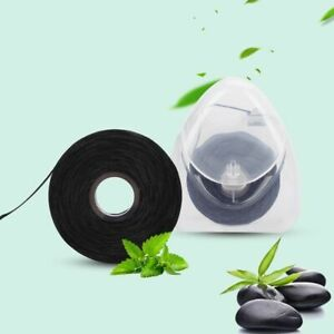 2 Box 50m Bamboo Charcoal Dental Flosser Toothpick Mint Flavor Dental Cleaning